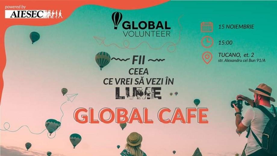 Participă la Global Cafe și află informații utile despre schimburi de experiențe și călătorii în întreaga lume