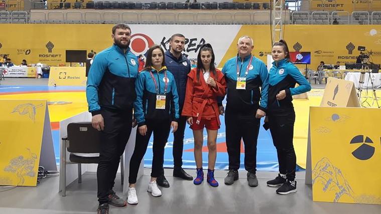 O nouă medalie pentru Moldova. Ana-Maria Ciobanu a cucerit bronzul la Campionatul Mondial de sambo