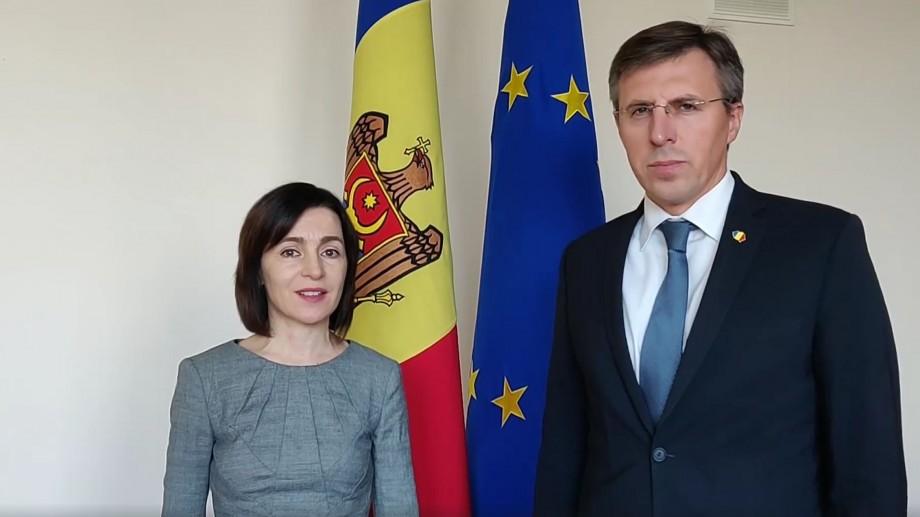 (video) Sandu, alături de Chirtoacă îndeamnă într-un mesaj alegătorii să nu stea acasă și să-l voteze pe Năstase