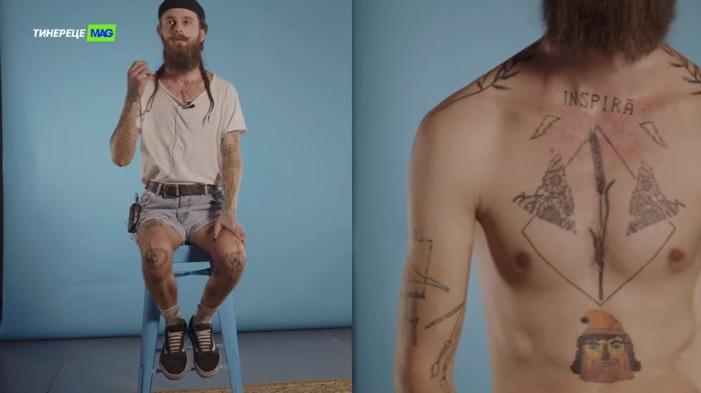 (video) Subcarpați, Constantin Brâncuși și sticla de vin. Povestea celor 50+ tatuaje ale lui Victor Zucker
