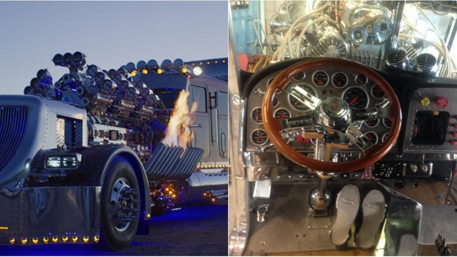"""(foto, video) Un om de afaceri din SUA a creat un adevărat """"monstru"""" pe roți. Camionul cu 4 000 de cai putere atinge viteza de 210 km/h"""
