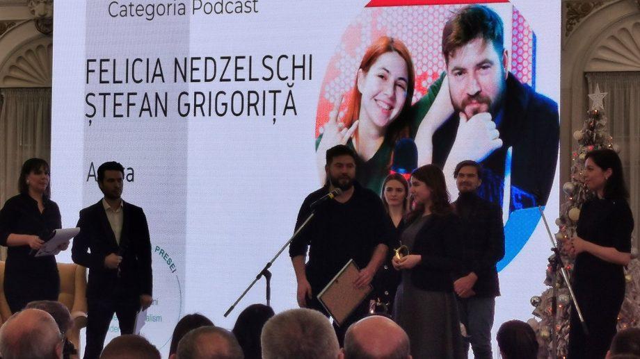 """Ștefan Grigoriță de la #diez a luat Mărul de Aur la categoria """"Podcast"""""""