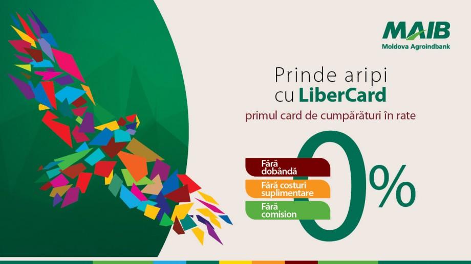 LiberCard – primul card de cumpărături în rate și fără dobândă