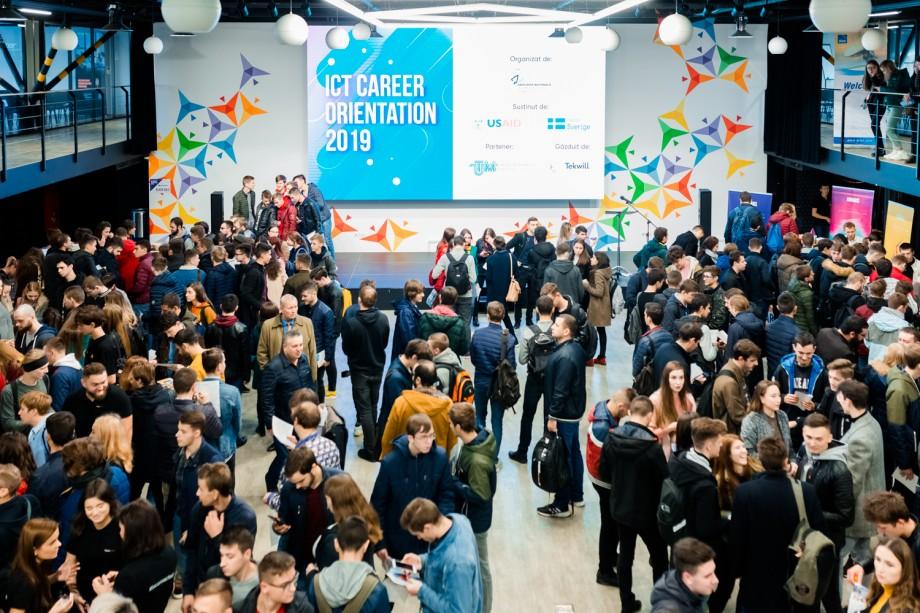 (video) Peste 1 400 de tineri au participat în cadrul celei de-a zecea ediții ICT Career Orientation