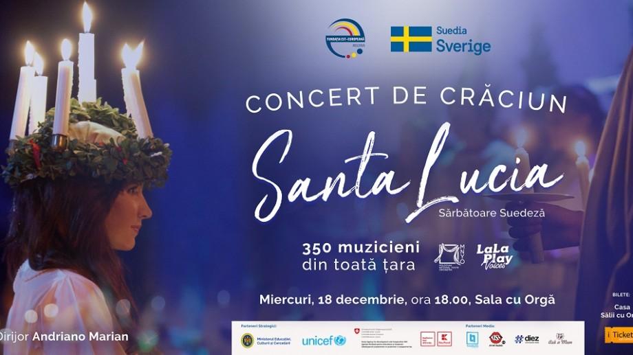 """Concert de Crăciun """"Santa Lucia"""". Un eveniment în cele mai bune tradiții suedeze la Chișinău"""