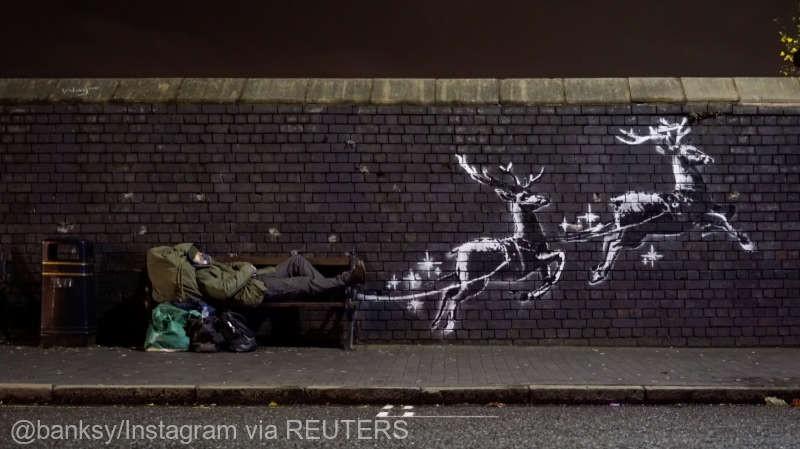 (video) O nouă pictură murală realizată de artistul stradal Banksy a apărut pe un zid din oraşul britanic Birmingham