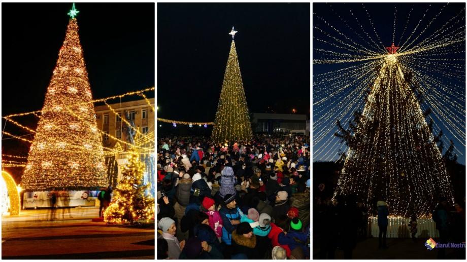 (foto) Brazi din toată Moldova, uniți-vă! Cum arată pomii de Crăciun din întreaga țară