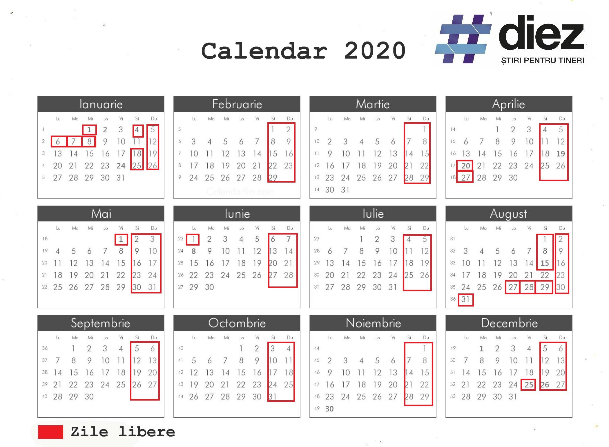 calendar 2020 date