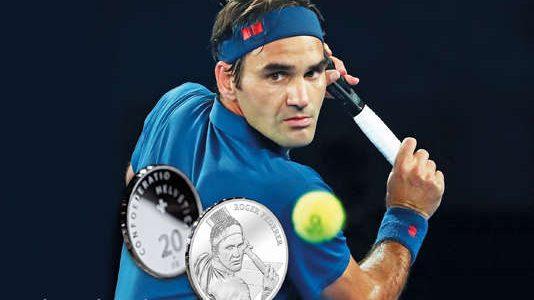 Roger Federer este prima persoană în viață a cărei efigie va fi gravată pe monedele din aur și argint din Elveția