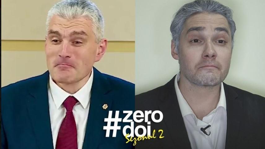 """(video) Noua parodie a lui Cătălin Lungu care îl vizează pe Alexandru Slusari. """"Doamna Sandu, fiți atentă, că v-a căzut… guvernul"""""""