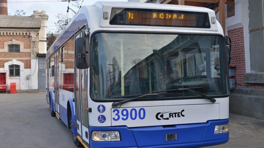 Încă un troleibuz pe ruta 34. Câte troleibuze noi vor circula în total la Trușeni