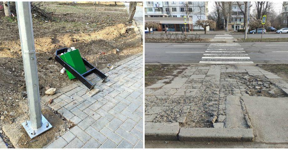 (foto) Locuitorii din Chișinău sunt indignați de calitatea reparației aleii pietonale din sectorul Botanica