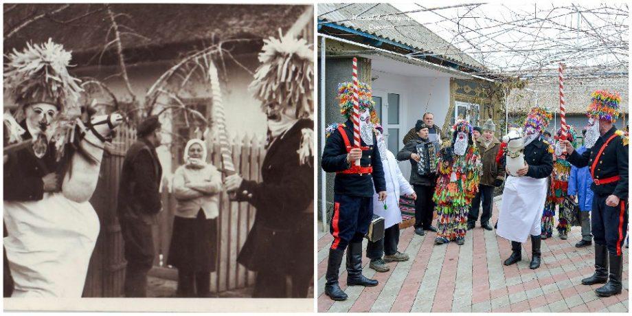 """(foto) Cum a evoluat tradiția """"Căluțul"""" de-a lungul anilor. Fotografii rare din muzeul satului Crocmaz"""