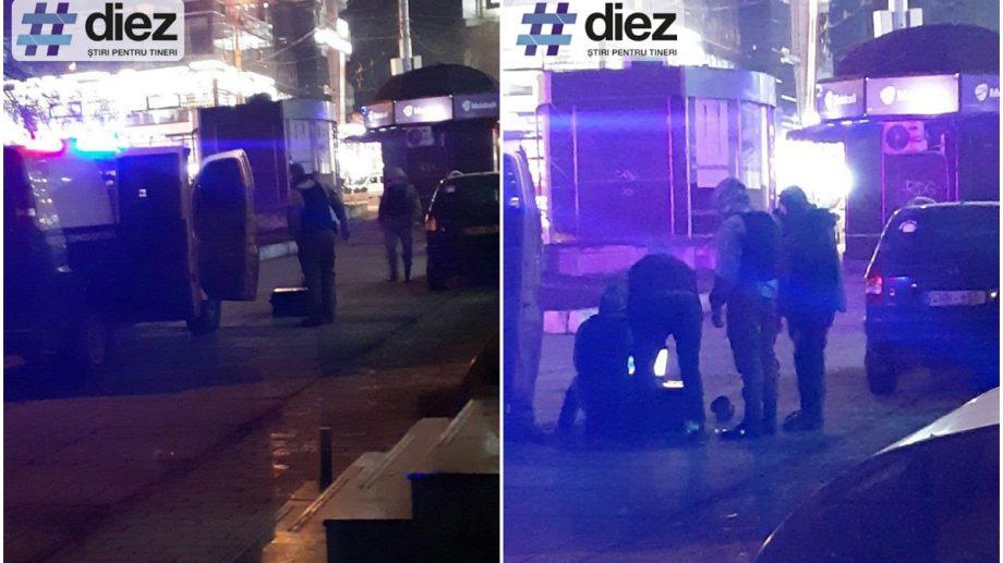 (update) Poliția, pompierii și geniștii pe strada Kiev. În pachetul aruncat era o bucată de slănină