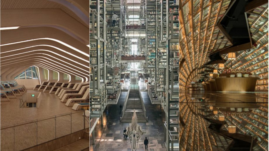 """(foto) Biblioteca """"Matrix"""" sau librăria în care cărțile plutesc. Cum arată unele dintre cele mai cunoscutebiblioteci moderne"""