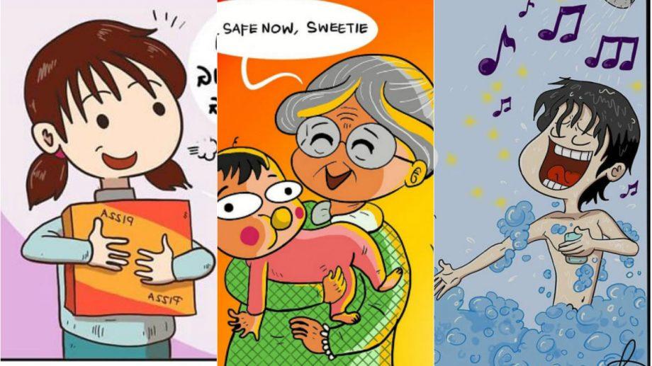 (foto) Familia, relațiile și social media. Un artist din Indonezia transformă situațiile cotidiene în benzi desenate