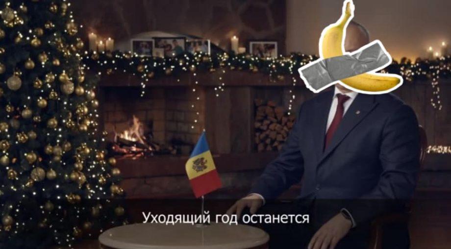 (foto) Tradiția continuă și în 2020. Cum au urmărit moldovenii discursul de revelion al lui Igor Dodon
