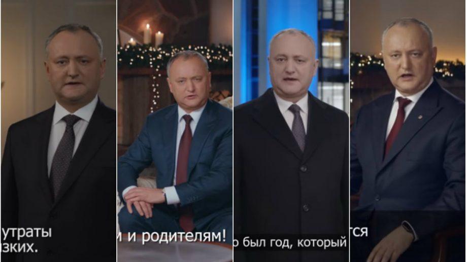 (video) Cum au arătat toate cele patru mesaje de felicitare de revelion ale lui Igor Dodon în calitate de președinte