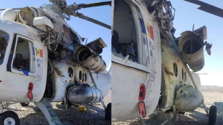 Un elicopter din Moldova ar fi fost atacat în Afganistan. Piloții au fost răniți