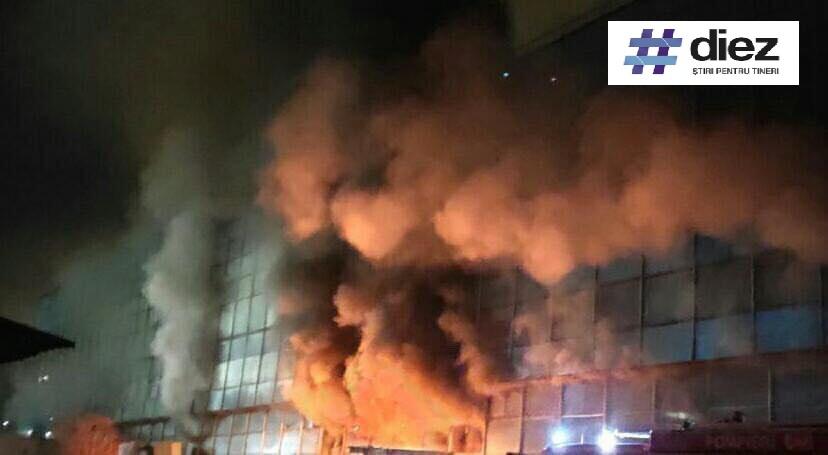 (foto) Un incendiu major a izbucnit la uzina Mezon din sectorul Râșcani