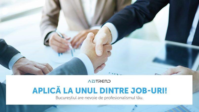 Îți propunem două joburi bine plătite la București. Pe care-l alegi?