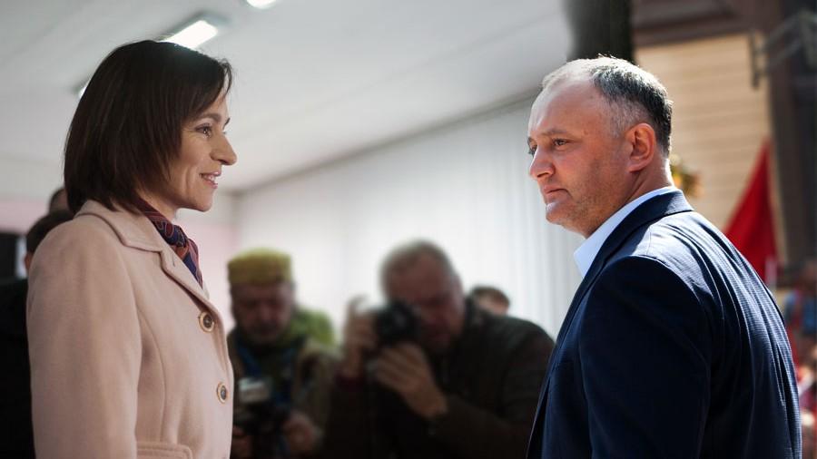 (sondaj) Maia Sandu și Igor Dodon au același procentaj de încredere din partea cetățenilor la nivel național