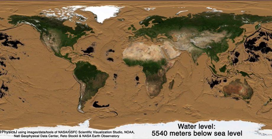 (video) La 11 kilometri sub apă. Cum ar arăta Pământul fără oceane