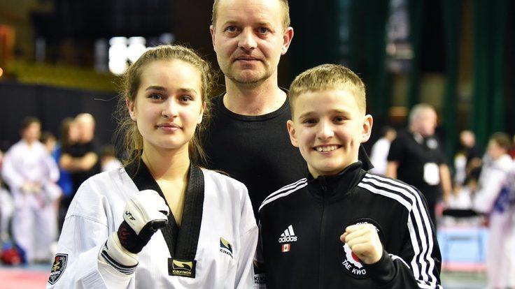 (foto) Andreea și Roman Munteanu, originari din Republica Moldova, au obținut un dublu succes în cadrul întrecerilor la Taekwondo din Montreal