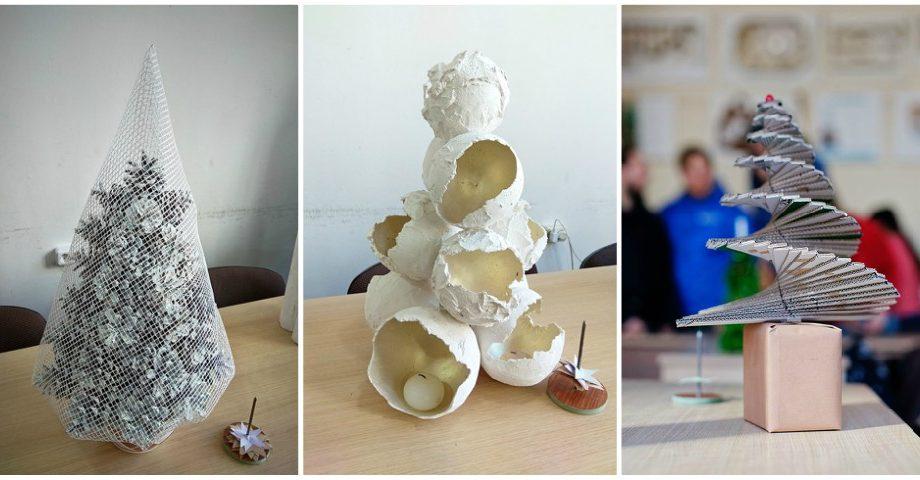 (foto) Iarna încă nu s-a terminat! La Universitatea Pedagogică din Chișinău au fost aleși cei mai creativi brazi