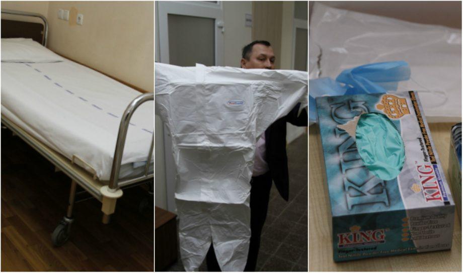 """(foto) Spitalul """"Toma Ciorbă"""" din capitală este pregătit de o epidemie de coronavirus. Cum arată saloanele în care ar putea fi internate persoanele infectate"""