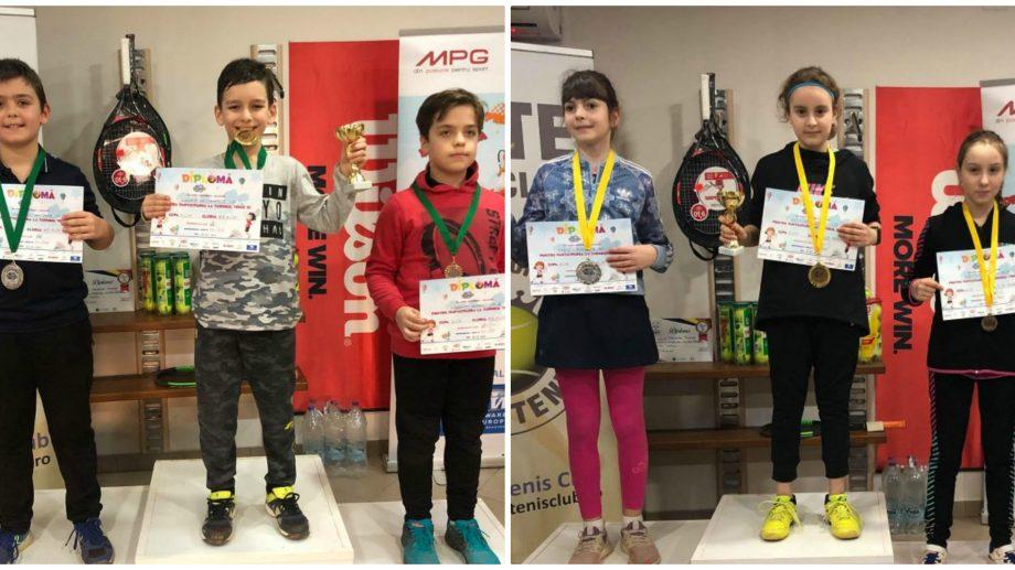 (foto) Trei copii din Republica Moldova au devenit campioni la Cupa Elite Tenis de la București