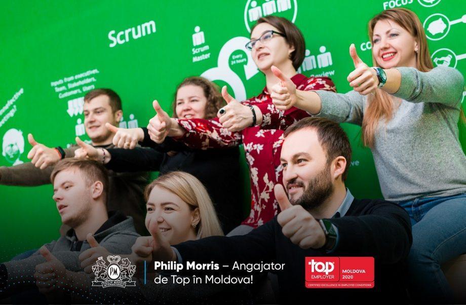 Philip Morris Moldova a fost desemnat Angajator de Top de către Institutul Top Employers