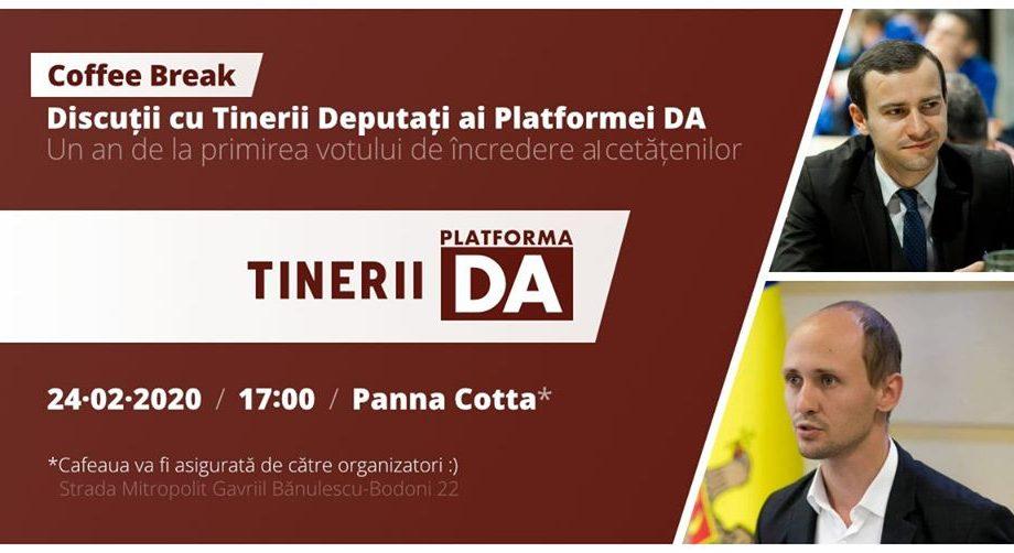 De Dragobete, participă la o discuție amicală cu cei mai tineri deputați ai Platformei DA: Dinu Plîngău și Liviu Vovc