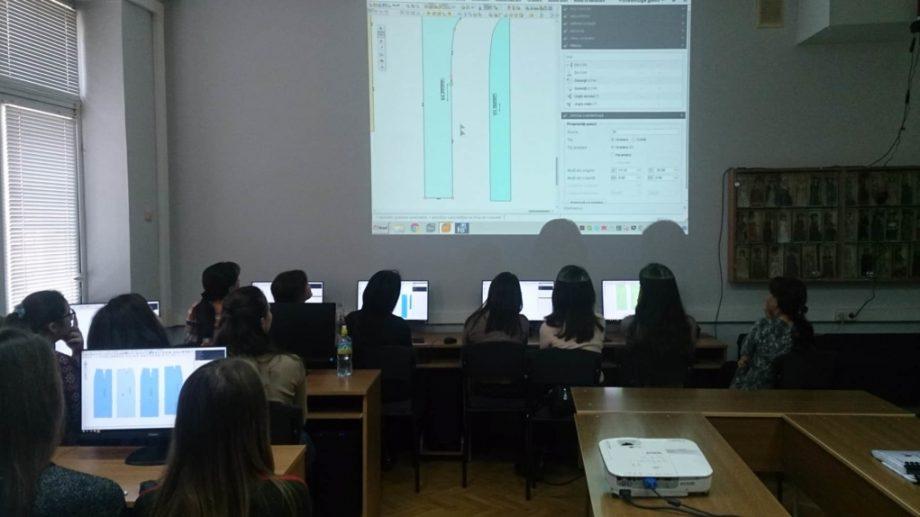 Elevii de la Colegiul de Industrie Ușoară din Bălți, în vizită la UTM