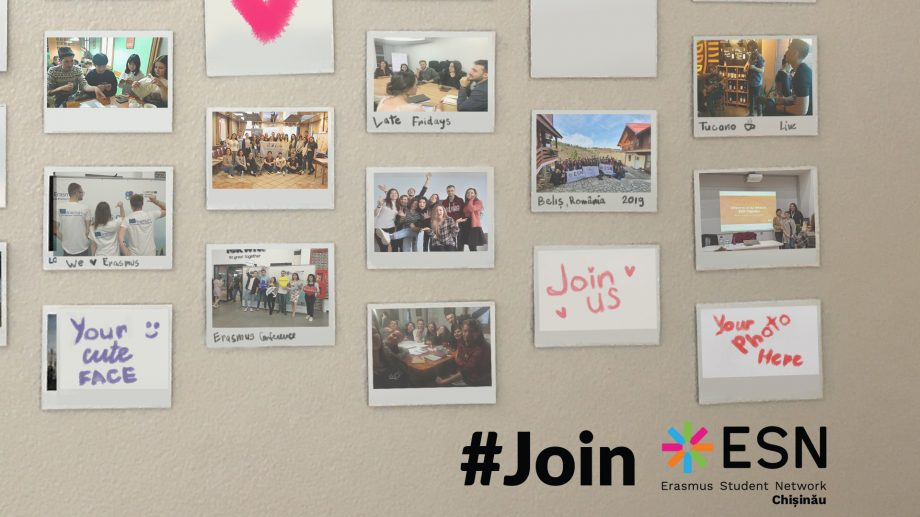 Erasmus Student Network Chișinău își extinde echipa. Cum poți face parte din comunitate