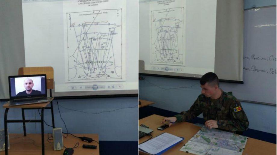 """(foto) Studii la distanţă la Academia Militară """"Alexandru cel Bun"""". Cursanții interacționează online cu profesorii"""