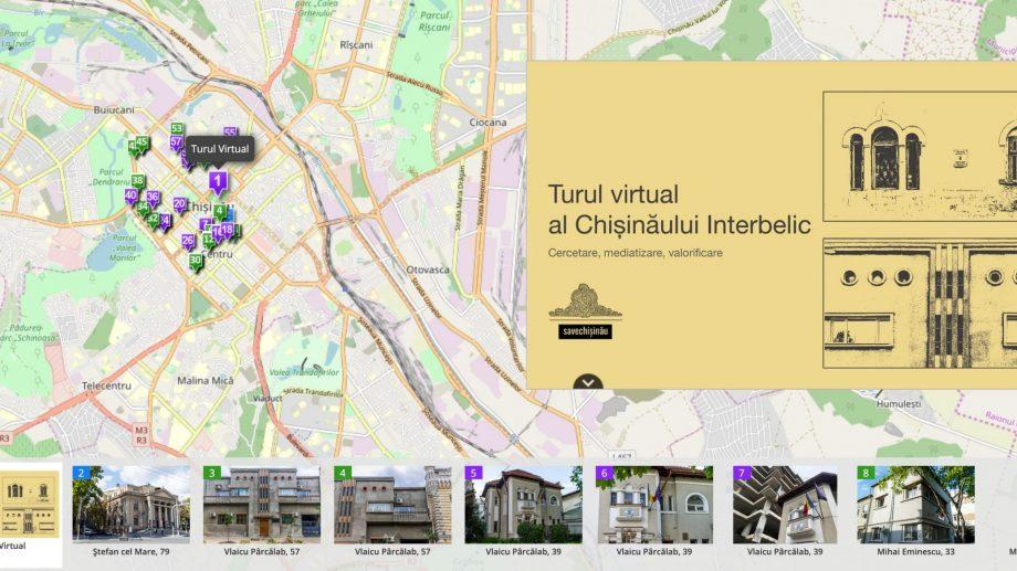(harta) Plimbă-te virtual prin Chișinău și descoperă orașul interbelic folosind o hartă interactivă