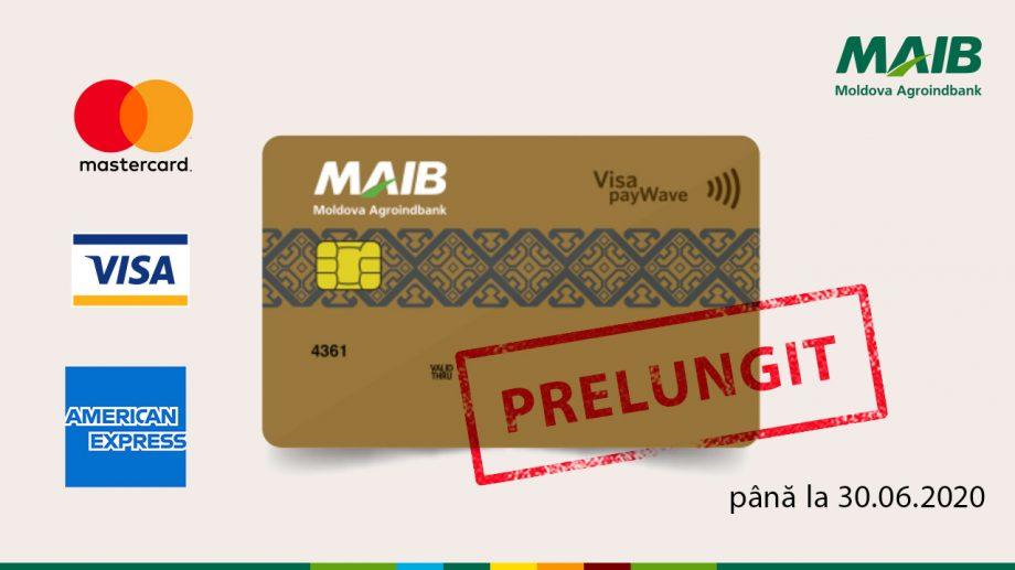 MAIB prelungește termenul de valabilitate a tuturor tipurilor de carduri care expiră