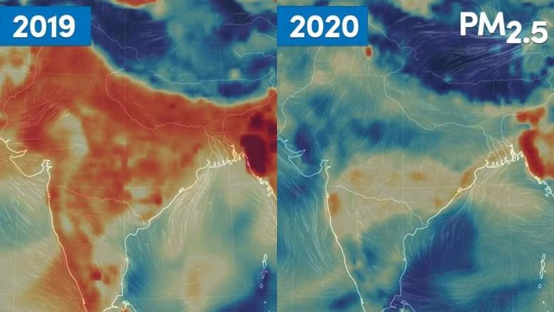 Nivelul poluării aerului a scăzut semnificativ în India după instituirea carantinei