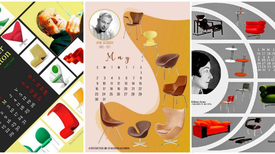 """(foto) Zece masternazi de la UTM au elaborat """"Calendarul 2021"""", cu tematica designului interior"""