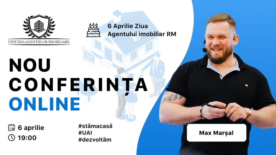 Tinerii agenți imobiliari pot participa gratuit la un training online cu expertul imobiliar Max Marsal