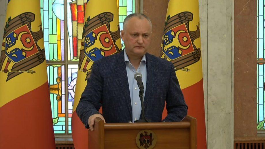 Igor Dodon propune moratoriu la discuțiile politice în societate pe timpul situației de urgență