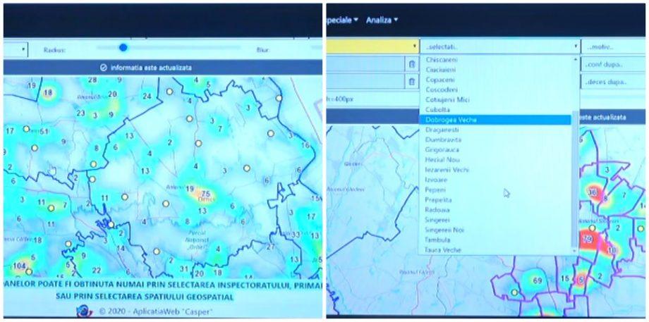 MAI a lansat o hartă interactivă prin care monitorizează cele peste 20 000 de persoane aflate în autoizolare