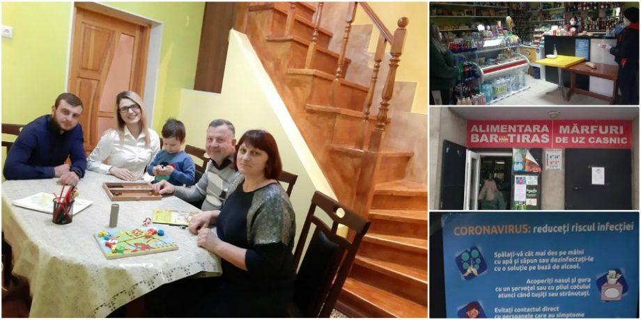 (foto) Carantina din afara casei tale. O zi din viața Luciei Țurcan, proprietara unui magazin alimentar