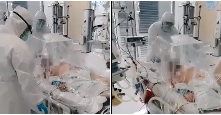 """(video) Imagini care vă pot afecta emoțional. Cum se face ventilația mecanică la Spitalul Clinic Republican """"Timofei Moșneaga"""""""