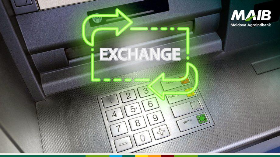 MAIB anunță noi adrese unde poţi schimba banii direct la bancomat