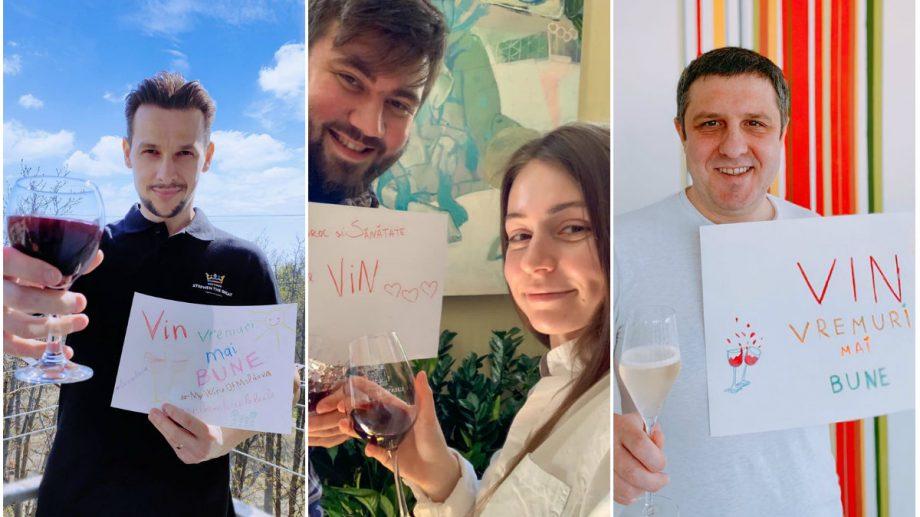 """(foto) """"VIN vremuri mai bune"""". Internauții au decis să le mulțumească producătorilor de vin din Moldova printr-un flashmob"""