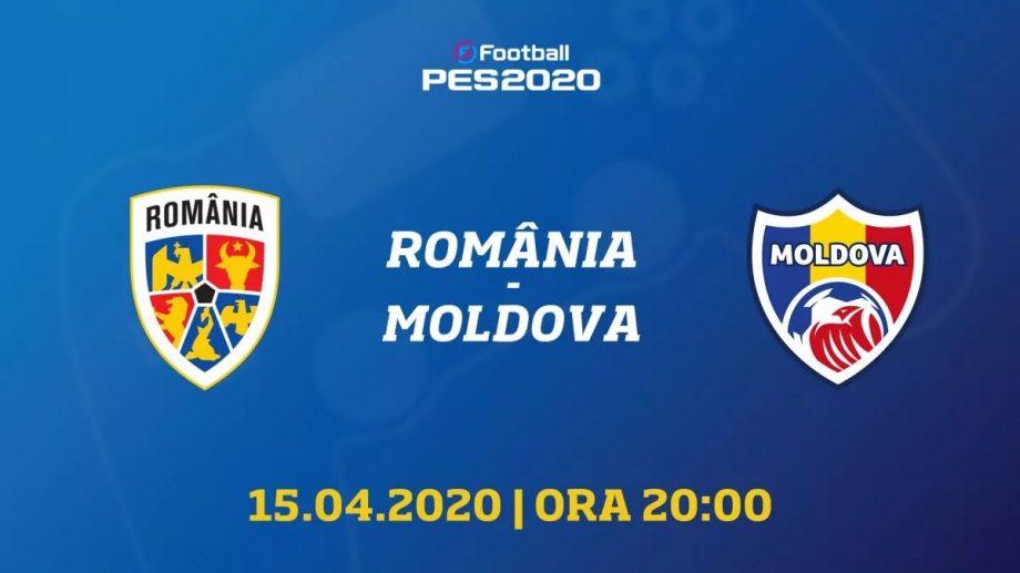 """Meciul de eFotbal dintre Moldova și România se va desfășurat cu sloganul: """"Meciul prieteniei, împreună împotriva pandemiei"""""""