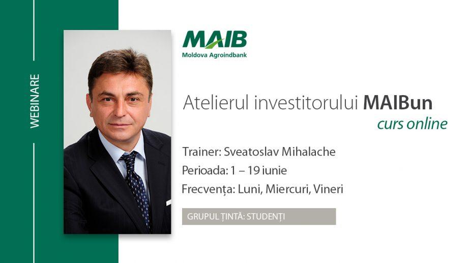 Moldova Agroindbank desfășoară cursul Academia Investitorului MAIBun