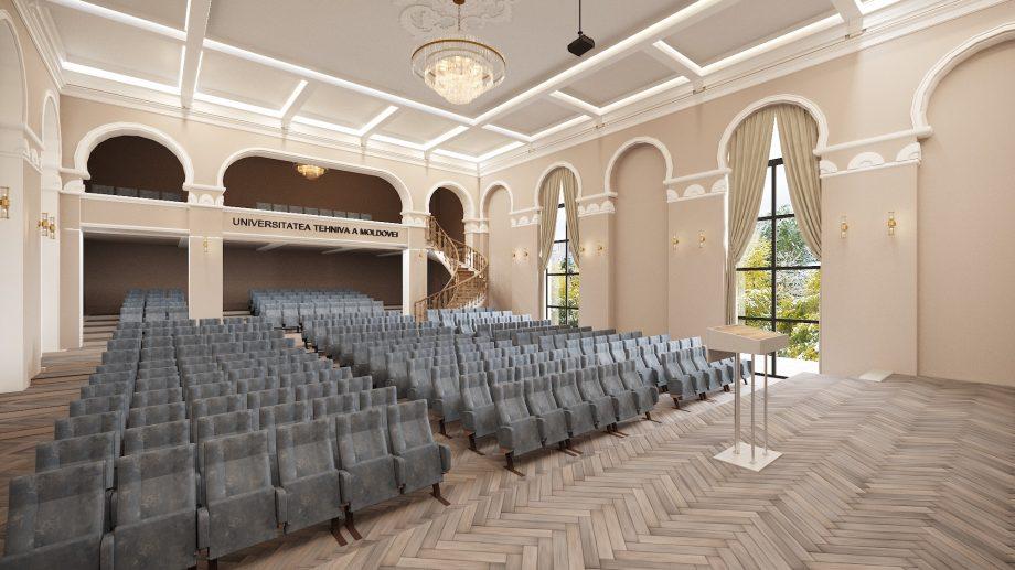 (foto) Cum ar putea arăta sala festivă a UTM, creată de propriii studenți arhitecți